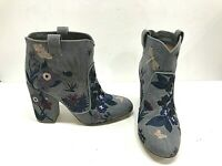 Laurence Dacade Embroidered Ankle Belen Denim Tropicale Boots Sz 9 39.5