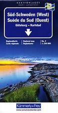 Schweden Regionalkarte 2 Süd-Schweden (West) 1:250.000 Kümmerly + Frey