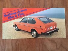 1978 FIAT 128 Hatchback Coupe ORIGINAL Large Factory Postcard