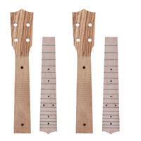 2 Sets Neck and Fretboard for Ukulele Concert Uke 23 Inch Hawaii Guitar Parts