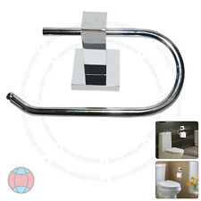 New Wall Mounted Square Polished Chrome Finish Bathroom Toilet Roll Holder