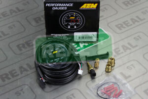 AEM X Series Water Temp Gauge 100-300F Black/Black 30-0302