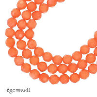 """16"""" Salmon Bamboo Coral Faceted Round Beads 4mm #63032"""