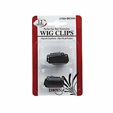 Donna Wig Clips Perfect for Hair Extensions 12pk Small #7984 Brown
