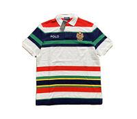 Polo Ralph Lauren Yacht Club Crest CP RL-93 Striped Polo Shirt White Men's XL