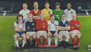 (64521) Royal Mail Football Heroes Poster (43cm x 24cm) Bobby Moore George Best