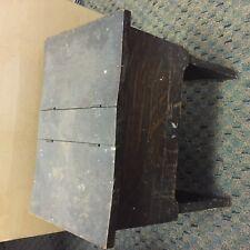 "Vintage Shoe Shine Box 15 1/2"" x 10 "", 15"" tall, dark wood. solid with  brush"