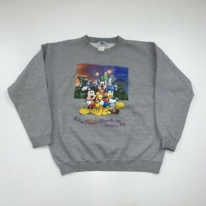 Vintage Disneyland Crewneck Sweatshirt Size XL Gray Mickey Mouse Goofy