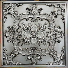 PL19 Faux tin antique silver colour ceiling tiles decor wall panels 10tiles/lot