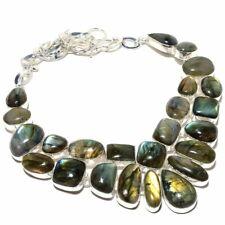 "Labradorite Gemstone Handmade Jewelry Necklace 18"""