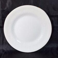 Wedgwood Silver Ermine Contour Bread & Butter Plate White Silver Trim Bone China
