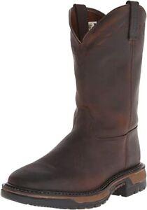Rocky Men's Original Ride Western Work Boot, Dark Brown, Size 13.0 sTrk