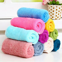 Assted Colors 10Pcs/Set Cleaning Towel Bamboo Fiber Dish Wash Cloth for Kitchen