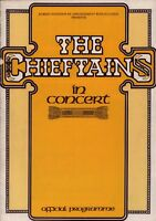 THE CHIEFTAINS / PADDY MOLONEY 1975 CHIEFTAINS 5 TOUR PROGRAM BOOK / VG 2 EX