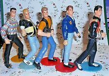 Vintage Set of All 5 Figures Nkotb New Kids on the Block, Signed 1990 Big Step