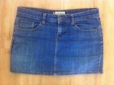Ladies COTTON ON Blue Denim Skirt Size 10 Short Mini