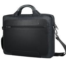 "Borsa tracolla morbida nylon laptop 14"" maniglia in metallo comparti laptop new"