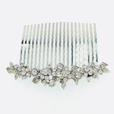 USA Hair Comb Hairpin use Swarovski Crystal Elegant Wedding Bridal Silver C14