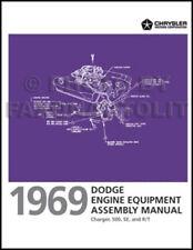 1969 Dodge Charger Engine Equipment Assembly Manual Lines Belts Hoses Carburetor