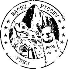 """Machu Picchu Peru Grunge Travel Stamp Car Bumper Sticker Decal 5"""" x 5"""""""