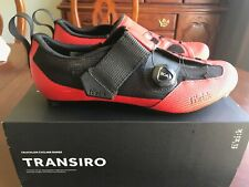 Fizik TRANSIRO R3 INFINITO RED/BLACK Size 9US - TRIATHLON CYCLING SHOES