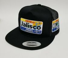 LAS PLACAS DE JALISCO   HAT MESH TRUCKER BLACK 2LOGOS   ADJUSTABLE  NEW