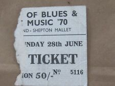 1970 BATH FESTIVAL ORIGINAL TICKET - LED ZEPPELIN, PINK FLOYD, ZAPPA,BYRDS, more