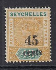 SEYCHELLES-1893 45c on 48c Ochre & Green Sg 20 MOUNTED MINT