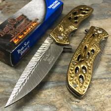 Dark Side Blades Spring Assisted Gold Eagle Collection Fantasy Pocket Knife