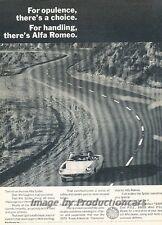 1971 Alfa Romeo Spider Original Advertisement Print Art Car Ad J811