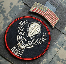 USAF AFSOC COMBAT RESCUE PEDRO PJ MEDICVAC SSI: SAINT HUBERTUS HUBERT + US Flag