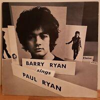 Barry Ryan Vinyl LP 1969 MGM  With Inner Sleeve Sings Paul Ryan Eloise