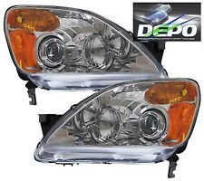fits 02-04 Honda CRV Chrome Projector Head Lights DEPO