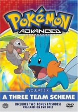 Pokemon Advanced - Vol. 6: A Three Team Scheme (DVD, 2004)
