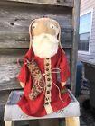 Primitive Christmas Winter Santa Claus Stump Olde Nicholas