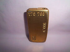 Lighter Vintage Cigarette Cigar Case Gold Tone Bullion Bar Ingot 999.9 Brass