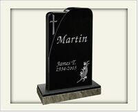 Cemetery headstone 100% granite complete as shown with engraving and free ship