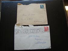 FRANCE - 2 enveloppes 1945 1950 (cy24) french