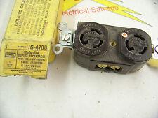 Hubbell IG4700 Duplex Twist Lock Receptacle 15 amp 125 volt Nema L5-15R