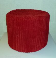 "Zippy Chunky Jumbo Cord Beanbag Footstool Bean Bag Foot Rest Stool Pouffe Seat 20"" Red Round"