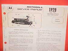 1976 MOTOROLA 8-TRACK CAR STEREO TAPE PLAYER/AM RADIO SERVICE MANUAL TM836AS