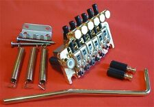 Guitar Parts FLOYD ROSE Locking Tremolo Bridge - Push In Bar - GOLD