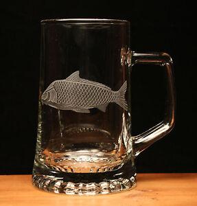 Carp Fish Angling coarse fishing engraved glass tankard gift present