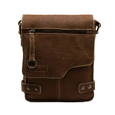 Ashwood - Small Antique Tan Vintage Leather Camden Messenger Flight Bag