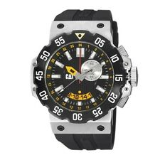 Caterpillar CAT D3145 D3.145.21.124 Deep Ocean Divers Watch Alarm 2nd Time Zone