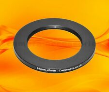 62mm to 43mm 62-43 Stepping Step Down Filter Ring Adapter 62-43mm 62mm-43mm (UK)