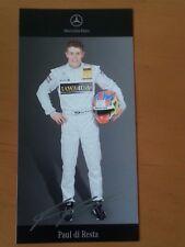 Paul di Resta DTM 2007 Autogrammkarte gedruckte Unterschr. von Mercedes