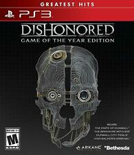 Dishonored - Game of the Year Edition PS3 (Sony PlayStation 3, 2012) Brand New