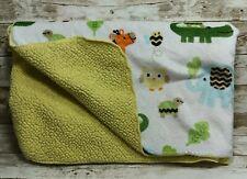 Circo Jungle Animals Giraffe Alligator Turtle Plush Baby Blanket Yellow Sherpa