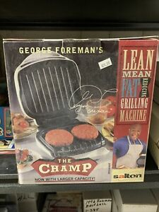 Vintage George Foreman Lean Mean Fat Reducing Grilling Machine GR10AWHT New NIB